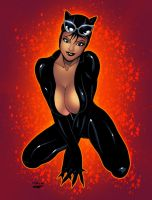 Catwoman by ESO2001 Colors by SplashColors