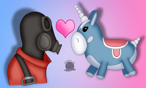 Pyro and Balloonicorn copy by Blackmoonrose13