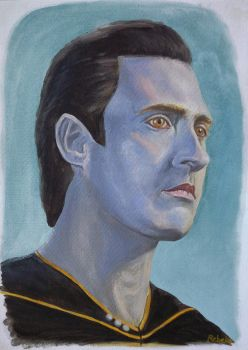 Portrait of Lt Cmdr Data, Star Trek TNG by Klonoah-K