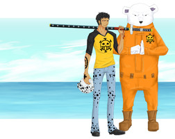 OP- Trafalgar Law and Bepo by sasukechan111