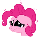 Pinkie Pie - Crying Vector by ctucks