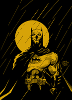 Batman - Moon sketch by BIG-D-ARTiZ