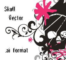 Skull Vector AI by krtulina
