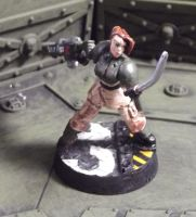 Last Kiss: Female Imperial Guardsman Conversion by JordanGreywolf