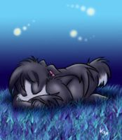 sleeping on the grass by vaporotem