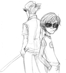 Bro and Dave - uncolored - by StationTwenty