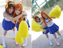 Mikuru and Haruhi cheerleader by LauzLanille