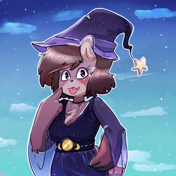 Witchy bear by bluberi-raccoon