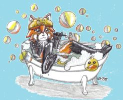 Ducks and Bubbles! by KyoukaKami