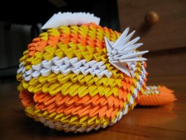 3d origami koi fish by OrigamiGenius