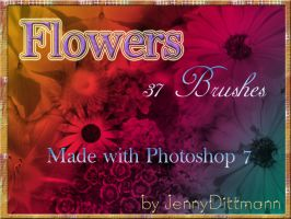Flowers (37 Brushes) by JennyDittmann
