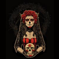 Day of the Dead, Lady in Red by Design-By-Humans