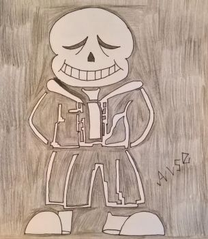 Here comes Sans by happydreamer96
