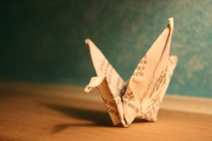 Paper Crane by a-drawer-4ever