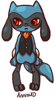 Hiiro the Riolu by AnnissXD