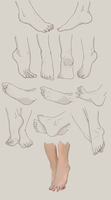 Feet practice by Tediusman