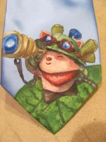Teemo - Hand Painted Tie by Midnight-Sword