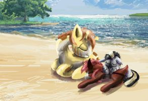 Reupload: zecora and friends naptime by SuperRobotRainbowOwl