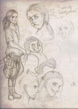 Cyrus doodles by Flakkynne