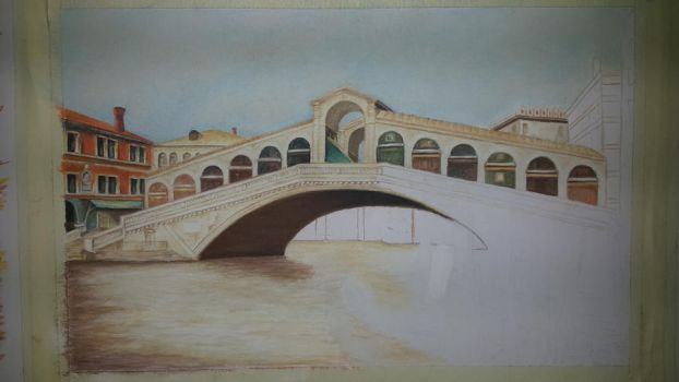 Rialto Bridge Venice WIP 3 by MariaIla