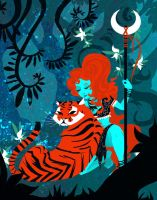 The Warrior and the Tiger by theGorgonist