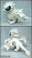 White dragon plush by d215lab