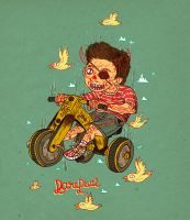 Daredevil on a trycicle by burnay