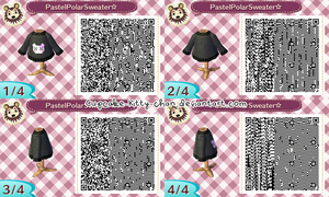 QR Code: Pastel Polar Sweater, Black by Cupcake-Kitty-chan