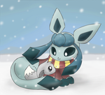 Glaceon and Eevee by pichu90