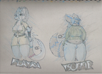 Traditional VVixens by BluDragoon