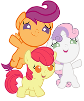 Baby Cutie Mark Crusaders by Beavernator