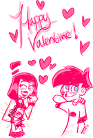 Happy Valentine DxS by greeneyeswhitehair