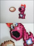 Super Mario 2 Birdo with egg bead sprite by 8bitcraft
