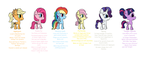 Mane Six M.M.C AU Bios by Tangerineblast