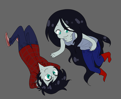 Marceline and Marshall Lee by XxUkarixX
