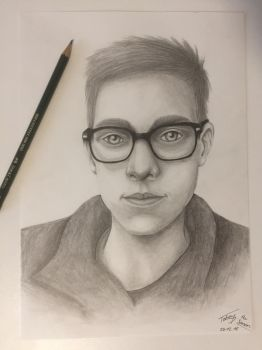 My Dear Cousin - Pencil Drawing by TobeyD