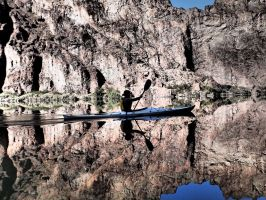 Paddling with Cedric I by ClymberPaddler
