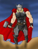 Thor God of Thunder by spriteman1000