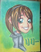 Anime caricature by raccoon-eyes
