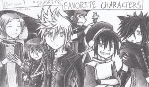 Current favorite characters by FyrusNoverum