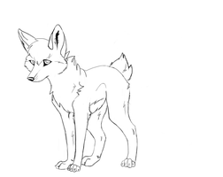 free wolf line art 3 by Wiggans-Adopts