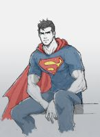 Superman by dorkynoodle