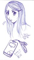 Ayumi and her Cell Phone by chiyokins