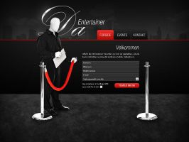 Da-Entertainer - Webdesign 1 by Noergaard