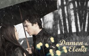 Damon and Elena by maybe55