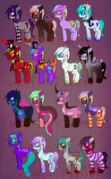 Pony adoptables jeeezus christ CLOSED by MoggieDelight