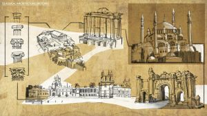 Classical Architecture Sketches by fercastz