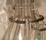 Silver Boxchain Bracelet with Crystal heart charm by Chained-Dragon