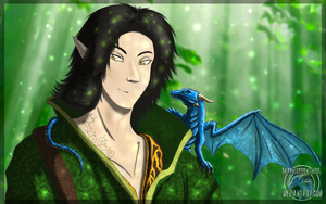 The Dragon and The Elf by Sapphiresenthiss