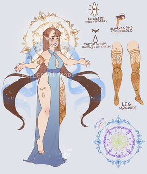Ethelind character ref. by FrederikkeFrode